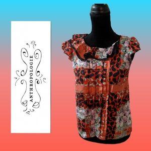 Anthropologie Odille silk blouse